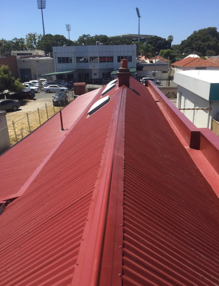 After -  All Colorbond Metal Roof in Manor Red