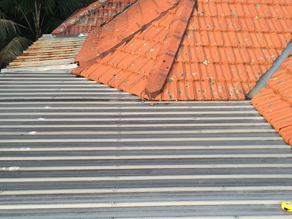 Before - Metal Roof With Water Leak Damage