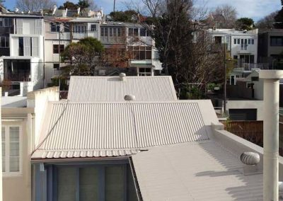 Colourbond Roof on Townhouse with Custom Flashing